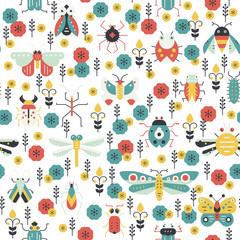 Colorful Bug Pattern