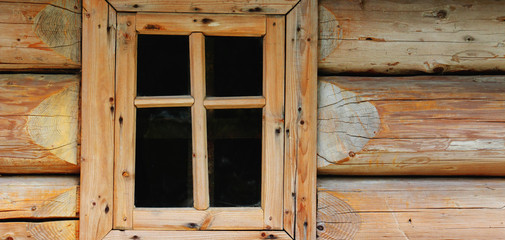 old wooden houses window (background)