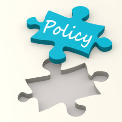 Policy blue puzzle