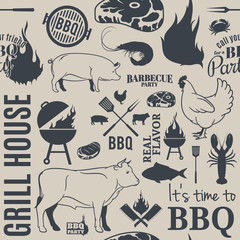 BBQ Seamless Pattern
