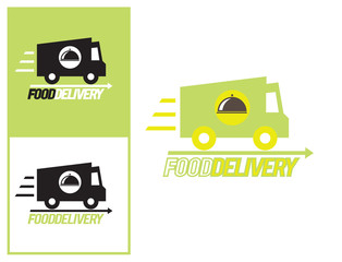 Logo design element Food delivery