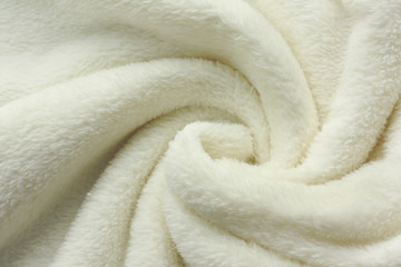 White Soft Fleece Blanket Swirl Background