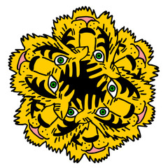 creative tiger mask