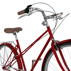 Hand bell bicycle. 3D graphic