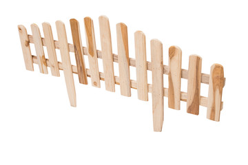 wooden fence for garden isolated