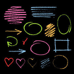 Handdrawn chalk sketch