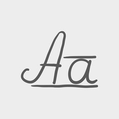Cursive letter a sketch icon