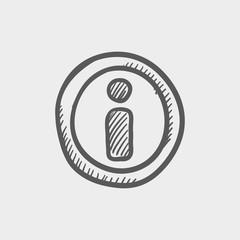 GPS eye sketch icon
