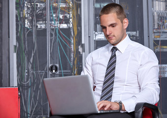 modern datacenter server room