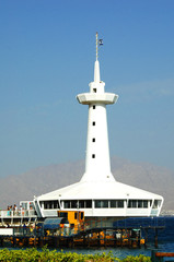 The main building of the underwater observatory marine park, Eilat, Israel