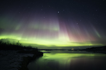 Blazing northern lights