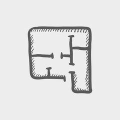 House infographic sketch icon