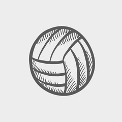 Volleyball ball sketch icon
