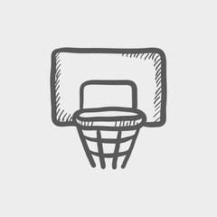Basketball hoop sketch icon