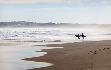 Surfers at Cape Woolamai, Phillip Island, Victoria, Australia, Pacific