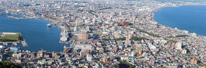The city of Hakodate, panorama