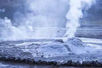 El Tatio Geyser Field, 4320 meters elevation, third largest geyser field in world, San Pedro de Atracama, Chile, South America