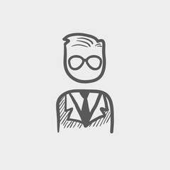 Businessman sketch icon