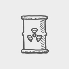 Tank with propeller sketch icon