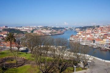 Jardim do Morro in Gaia and Porto Cityscape