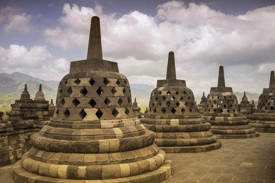 Borobudur Buddhist Temple, Java, Indonesia