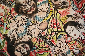 Nebuta, the traditional Japanese festival, Hirosaki, Aomori, Jap
