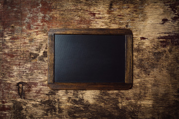 Small wooden framed blank chalkboard