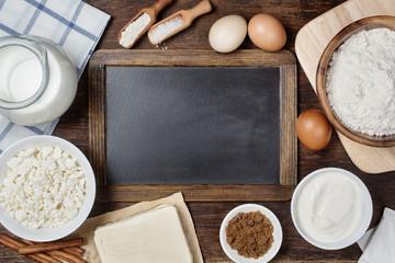 Traditional baking ingredients