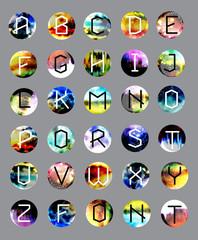 geometric font. Creative Alphabet. Typographic Set.