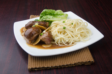Duck noodle food. asia food
