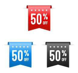 50% Off Offer Labels
