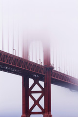 Golden Gate Bridge in the mist, San Francisco, California, United States of America, North America