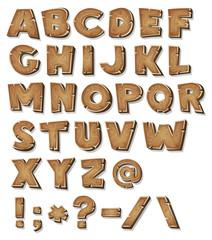 Comic Wood Alphabet