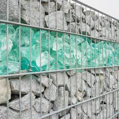 Sichtschutzmauer aus Gabionen