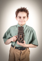 giovane fotografo sorridente