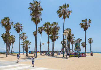 VENICE, UNITED STATES - MAY 21, 2015: Ocean Front Walk at Venice