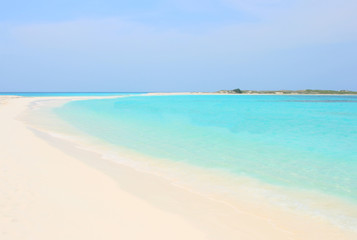 Idyllic tropical beach with perfect turquoise water