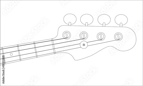 bass headstock outline stock image and royalty free vector files on
