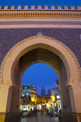 Bab Boujeloud Gate (The Blue Gate), Fes, Morocco, North Africa