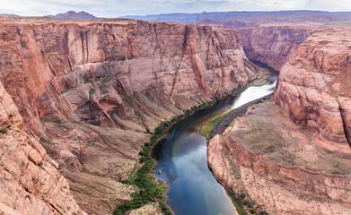 Staande foto Canyon Horseshoe Bend USA