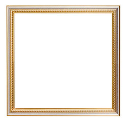 square golden carved wooden picture frame