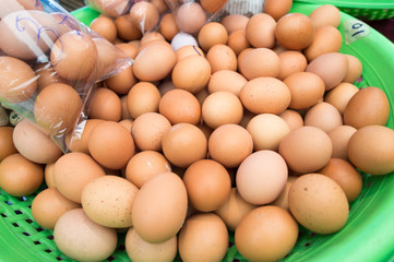 Eggs sold in markets
