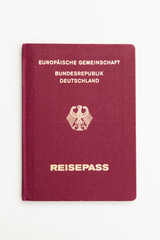 Reisepass - Deutschland - Hintergrund Weiß