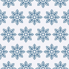 Vector illustration of a seamless pattern of flowers