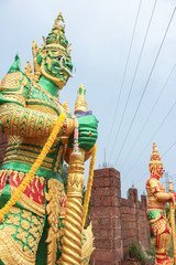 Giant statue of Thailand, Atmosphere in the rainy season.