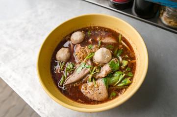 Pork meatballs , noodles