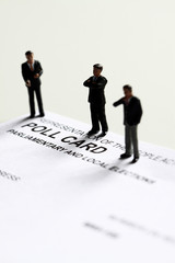 Poll card model candidate.
