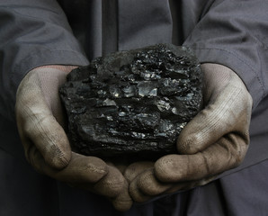 Coal in hands