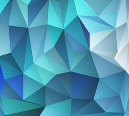 Blue mosaic background. Vector illustration.