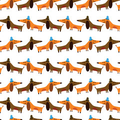 Cartoon seamless pattern for childish designs.